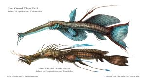 Conceptual Fish - Creatures by MIKECORRIERO