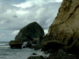 Rocks, Water and Clouds by ZanderJames