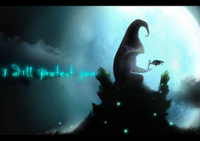 I will protect you.. by DomaiCreations