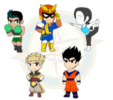 Assorted Chibis - Fighters Take the Stage by Dragon-FangX