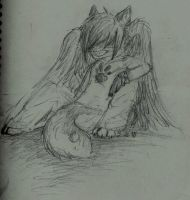 Just Resting by DarkWolves-of-flames