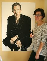 Benedict Cumberbatch by cecilepellerinfrance