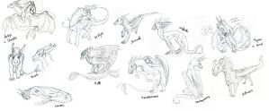 FS round 1 - dragons by Lucie-P