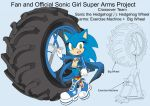 SonicSuperArmsProject  Sonic Female(DesignTest) by skyshek