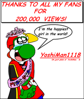 Thanks for 200k views by YoshiMan1118
