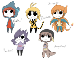 Pokemon gijinka adopts :CLOSED: by Kidopts