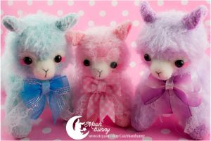 Sweety plush alpaca Charm 2 by CuteMoonbunny