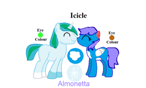Almonetta X Icicle by Blooxi