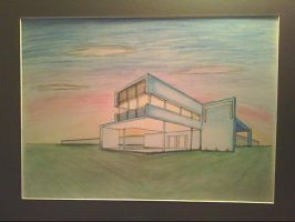 2pt perspective house: COLOUR by moviefan6896