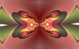 K380 Red Butterfly by ChancesGrandma