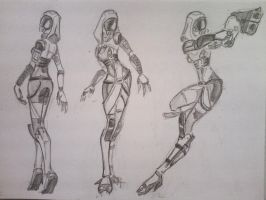 sketches Tali (11) by spaceMAXmarine