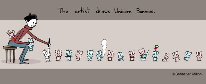 Artist Draws Unicorn Bunnies by sebreg