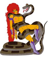 adult starfire and kaa request by bugboy1