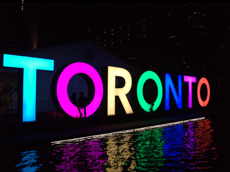 The Toronto Sign At Night by Neville6000