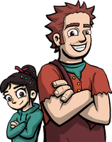 Wreck-It Ralph: Ralph and Vanellope by DeathbyChiasmus