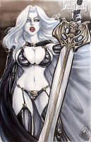 Lady Death Sketch Cover by AdamWithers