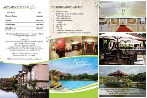Sheridan Boutique Resort inside Brochure by nikolaihoe27