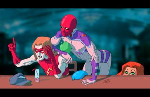 Red Hood and the Outlaws by drawerofdrawings