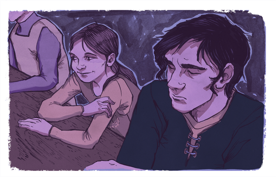 Arya and Jon by raddishh