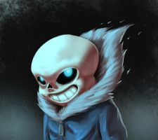 Sans Undertale - Digital Sketch by gabrielrubio
