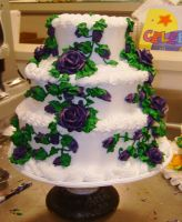violet rose wedding cake by kokoloco