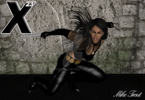 X-23 ready for battle by mtrout65