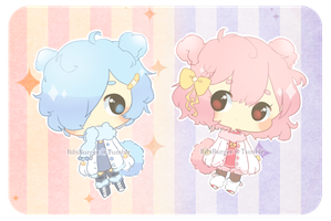Cotton Candy Bear Adopts: 019-020 CLOSED by BibiBurger