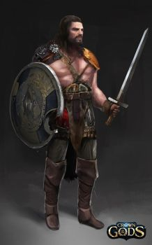 Barbarian warrior by Jackiefelixart