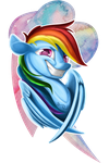 Rainbow Dash Bust by Sirens-Voice