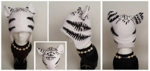 White Tiger Hat by Mermade4u