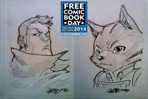 FCBD 2014 Sketches  19 - 20 by theCHAMBA