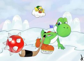 Yoshi's_winter_wonderland by DeathKissuFu
