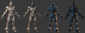 Guyver Low Poly WIP by 31883milesperhour