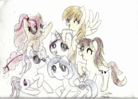 Mlp OC Group Picture by whispii