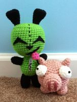 gir and piggy by TheArtisansNook