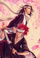 Byakuya and Renji by ForeverMedhok