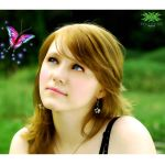 girl and butterfly by junior20118