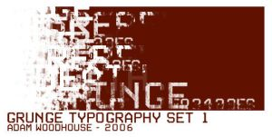Grunge Typography set 1 by ardcor
