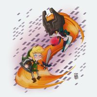 Link and Midna by kiska242