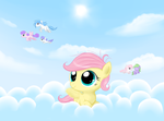 In the clouds by Karrotcakes