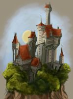 Castle on the rock by Sedeptra