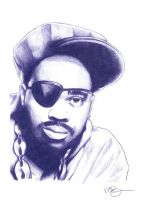 Slick Rick Pencil Sketch by DJMark563