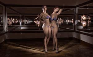 karrie twins mirrored room by refsocrd1