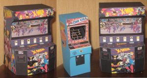 X Men Arcade cabinet by paperart