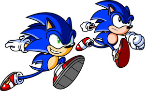 Sonic and Sonic by JamesmanTheRegenold