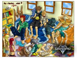 Kingdom Hearts - Sleeping Boys by J4ne-d-C4t