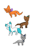 Chibi Kitty: pack 1 by greatgrizzlygirl