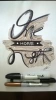 One More Night - Typography by Tercius