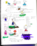 Science Notes Colored by o-harvest-moon-o
