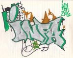 infa on paper Graffiti by iaminfa